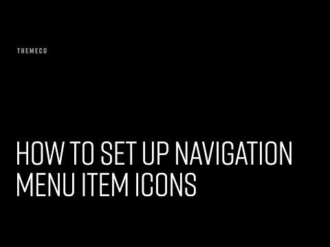 How to Set Up Navigation Menu Item Icons