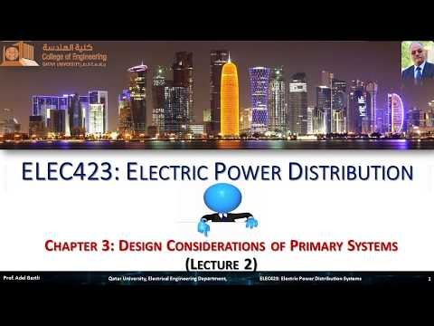 Electrical Power Distribution Chapter 3 Design Considerations Of Primary Systems Lecture 2 Youtube