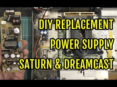 Sega Saturn DIY Replacement Power Supply PSU Jpn - YouTube
