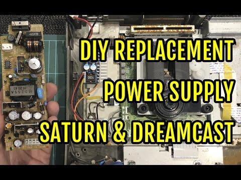 Sega Saturn Diy Replacement Power Supply Psu Jpn