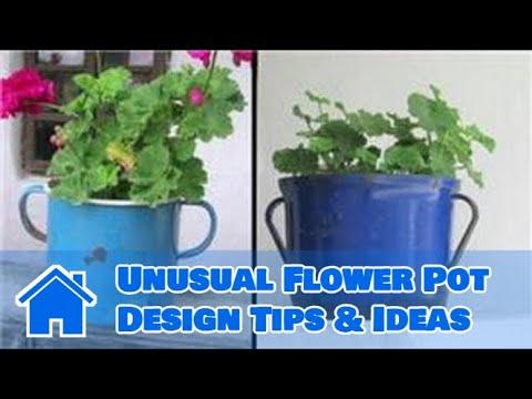 Gardening Tips Unusual Flower Pot Design Tips Ideas Youtube