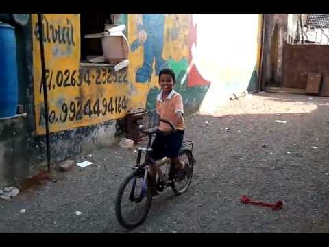 Nabibkhan With His Cycle