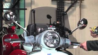 Faco Adjustable Windscreen for Vespa GTS