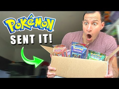 *POKEMON SENT ME AN AMAZING BOX OF POKEMON CARDS!* Opening EVERY Pack Inside!