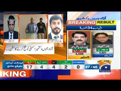 Results Update - Azad Kashmir Election 2021 - AJK Election 2021 Update