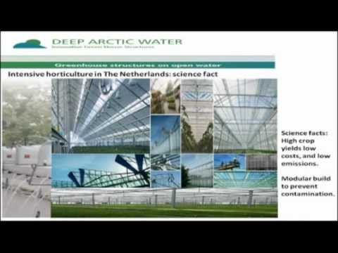 Innovative offshore greenhouse constructions providing multiple layers of farming