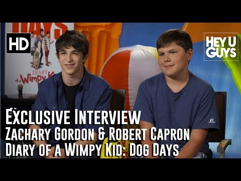 """Zachary Gordon & Robert Capron Interview - Diary of a Wimpy Kid: Dog Days"""