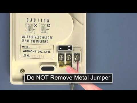 Aiphone LEM-1DLS Wiring Instructions And Install Guide - YouTube