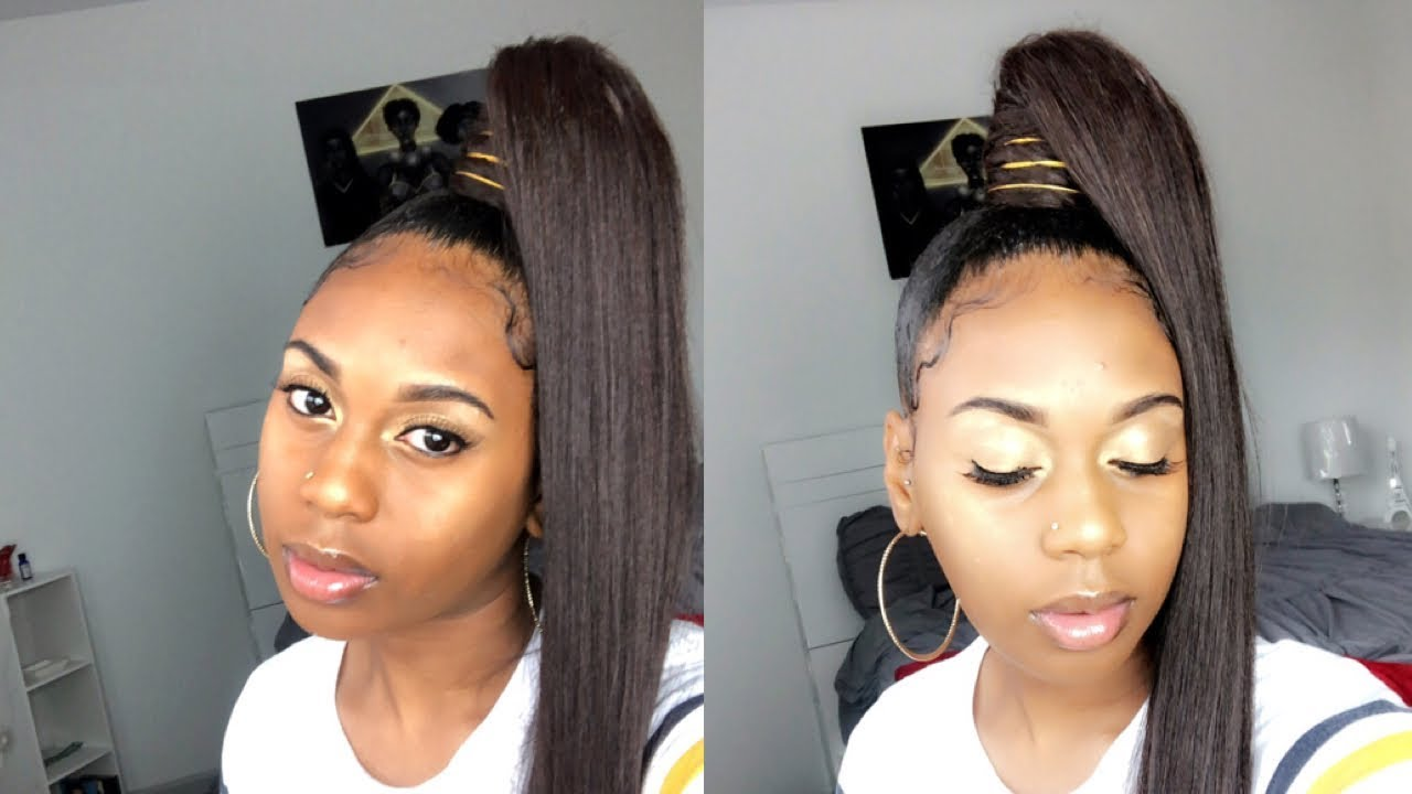 How To: Genie *HIGH* Ponytail W/ Weave