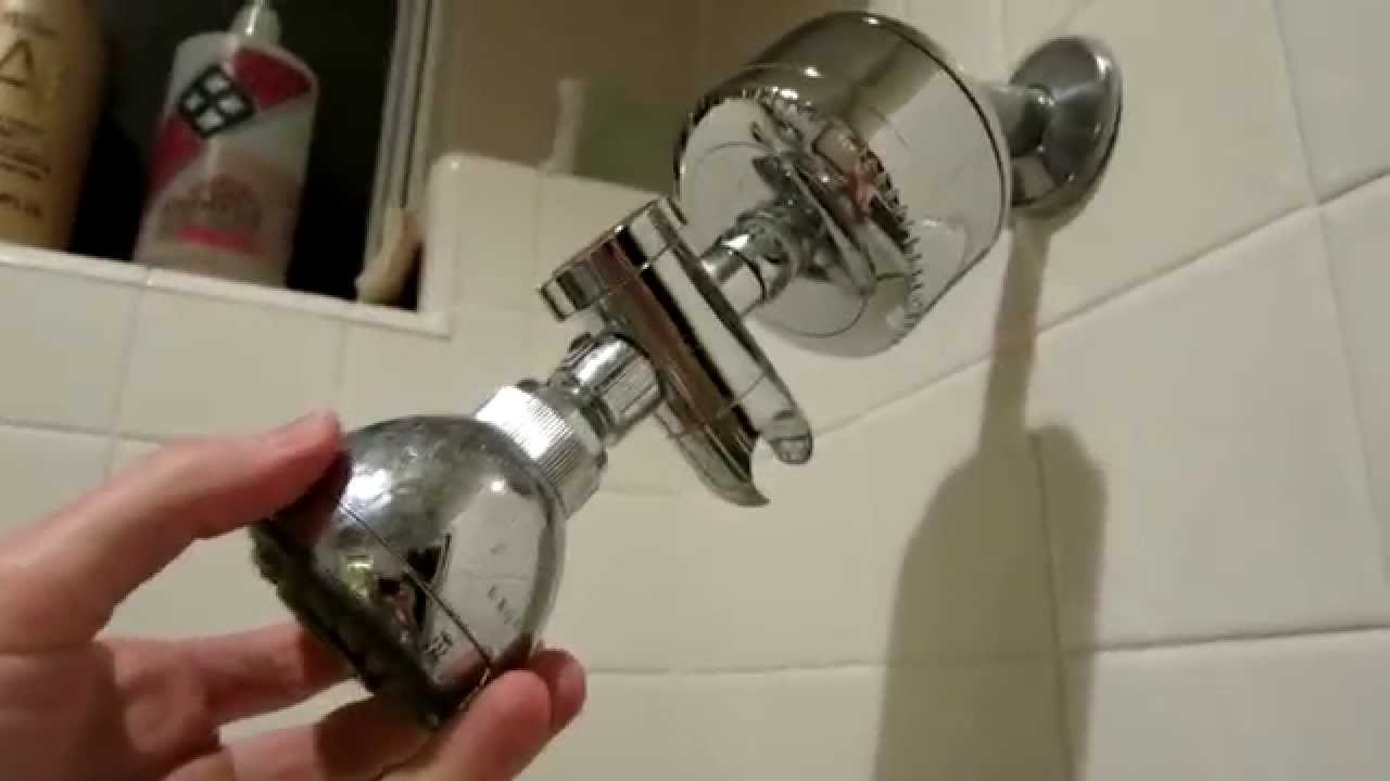 how to install a shower filter to take the chlorine out of your water