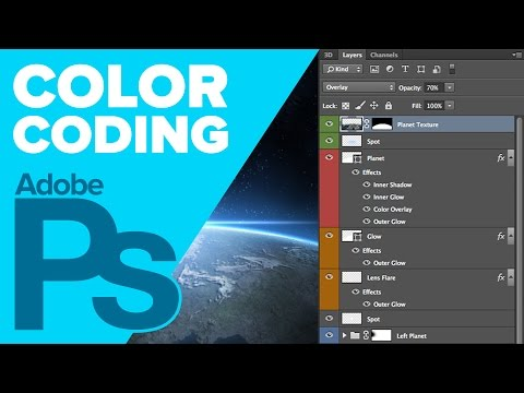 How To Color Code Your Layers In Photoshop