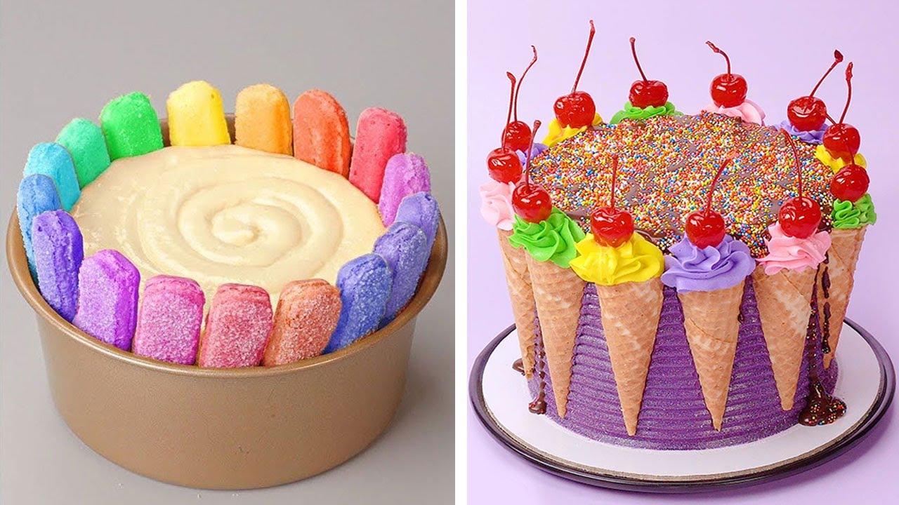 Tasty Colorful Cake Recipe | Most Satisfying Cake Decorating Tutorials | So Yummy Cake Ideas