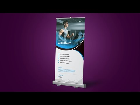 How To Design Corporate Roll Up Banner- Photoshop Tutorial