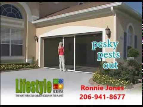 lifestyle retractable garage screen door