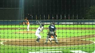 Run Scoring Single by Great Britain v Netherlands Euro Baseball Champs