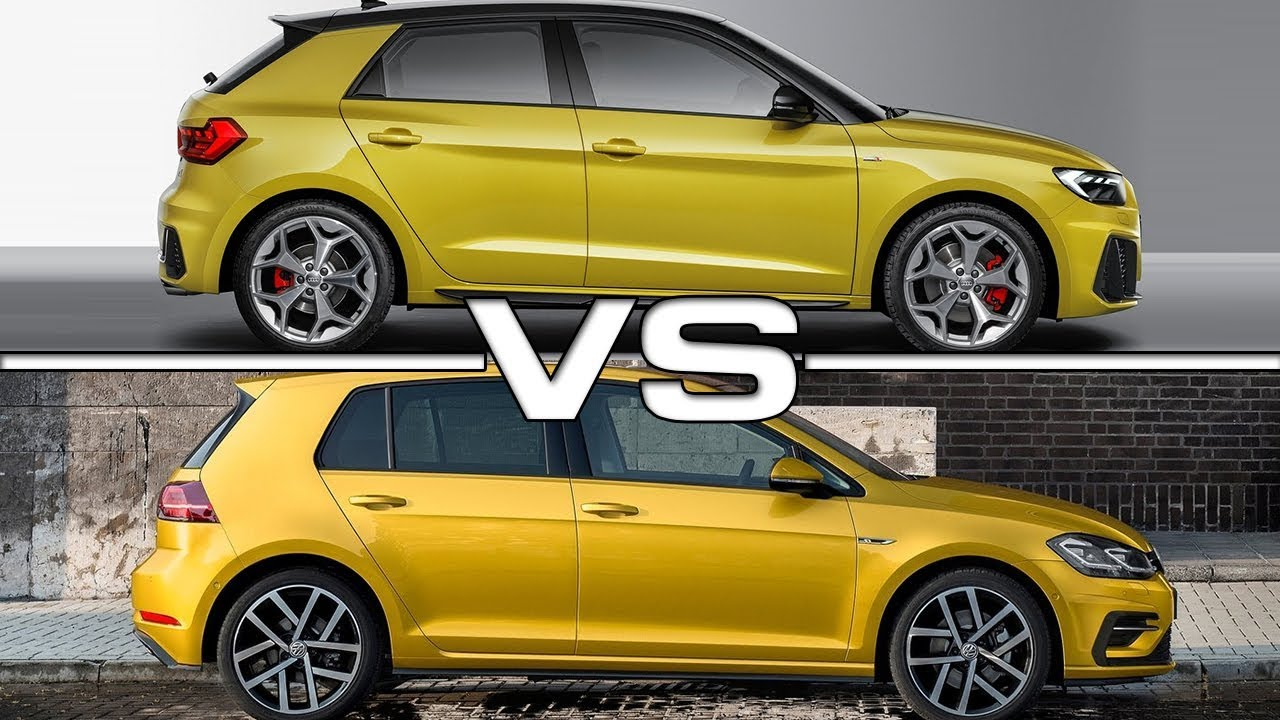 2019 audi a1 sportback vs 2018 volkswagen golf technical specifications