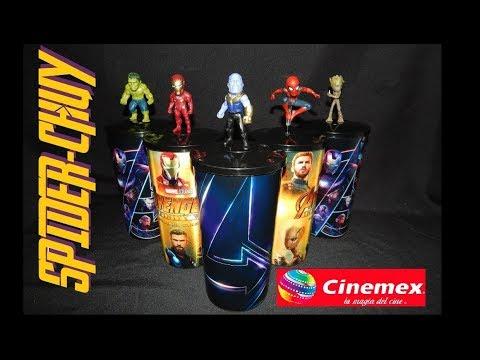 Reseña Vasos con Figura Cinemex Avengers Infinity War vs Cinepolis   Productos de Cine Promocionales