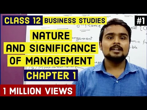 Class 12 business(introduction of management and it's features) mind your own business video 1