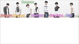 Color codes: l/myungsoo - light blue hoya sungyeol orange sunggyu red woohyun violet dongwoo green sungjong pink i changed and su...