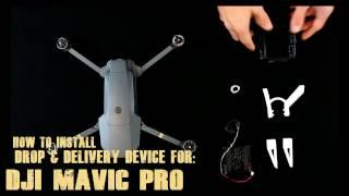 How to install DJI Mavic pro drop device