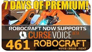 Robocraft News - Curse Voice Robocomms And 7 Days Of Premium!