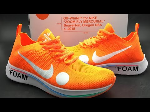 50a8eba67917 Nike X Off-White Zoom Fly Mercurial Flyknit Unboxing (Total Orange ...