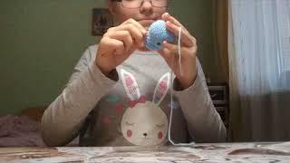 вязание котенка крючком 2 часть