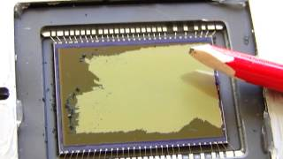 CFA removal from Canon 350D CMOS sensor