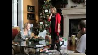 Son Surprises Mom for Christmas - Priceless Reaction!