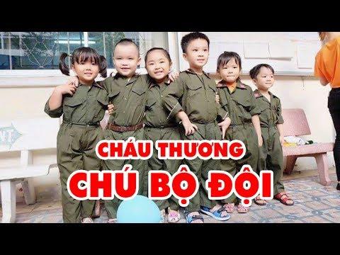 CHÁU THƯƠNG CHÚ BỘ ĐỘI  - Bé Mon - Ca Nhạc Thiếu Nhi Vui Nhộn Sôi Động Hay Nhất Cho Bé