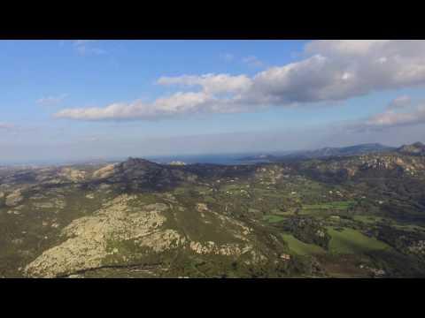 Tiana e Valle di Surrau dall'alto. Arzachena, Sardegna