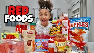 I Only Ate Red Food for 24 Hours *allergic to red dye* 😱 | LexiVee03