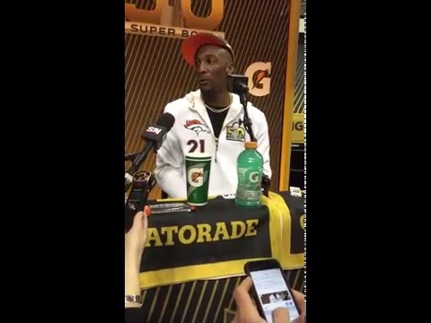 Aqib Talib ignores question about hold on Gronk