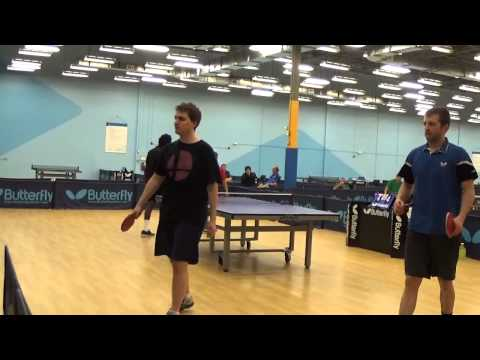 Raj Chi vs AJ Carney Jerrad Doubles Table Tennis Final Jan 2015