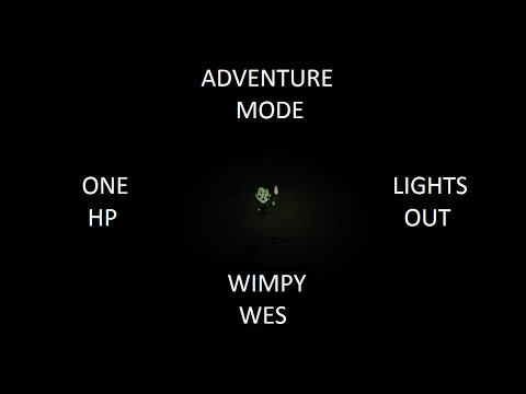 Don't Starve Adventure Mode: Lights Out & 1 HP as Wes (Full)
