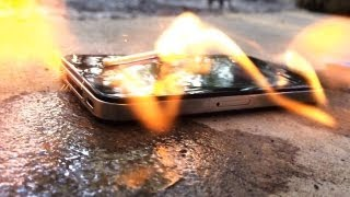 Slow motion destruction of iPhones filmed on the iPhone 5S at 120fps