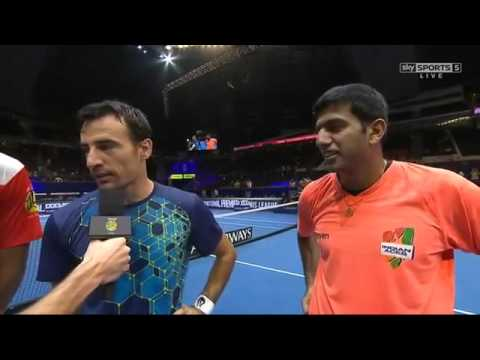 [HD] Melo & Kyrgios vs Bopanna & Dodig Interview IPTL Singapore 2015