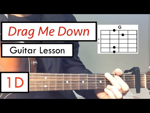 Mix - Drag Me Down - One Direction | Guitar Tutorial (Guitar Lesson) Chords