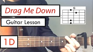 Drag Me Down - One Direction | Guitar Tutorial (Guitar Lesson) Chords
