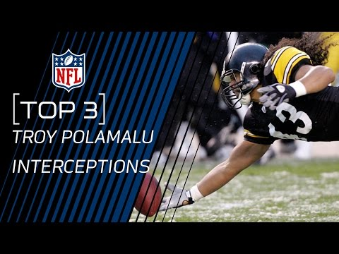 Top 3 Troy Polamalu One-Handed Interceptions | NFL