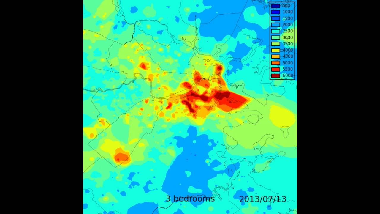 Boston-area housing price animated heat-map