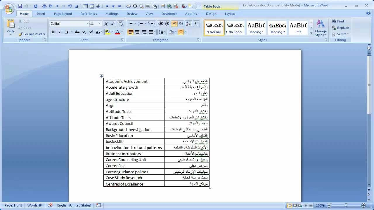 Converting Word Table Glossary To Wordfast Glossary Youtube