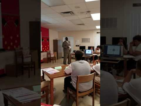 Principal Cornelius Bobo addressing our Pilot Class at North Tampa Alternative School