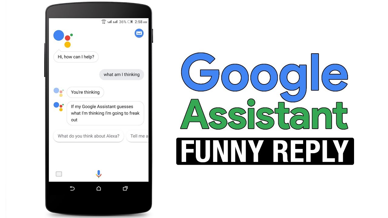 Image of: Voice All Funny Reply Of Google Assistant Youtube All Funny Reply Of Google Assistant Youtube