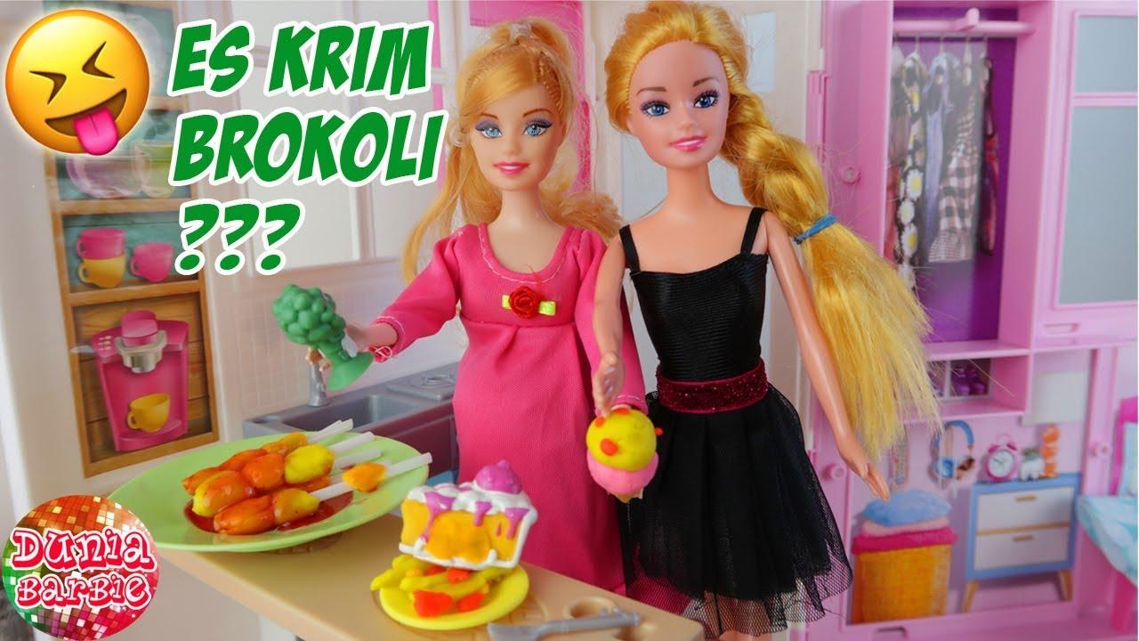 Barbie Hamil Muda Ngidam Masak Masakan Aneh Aneh Mainan Anak Perempuan Youtube