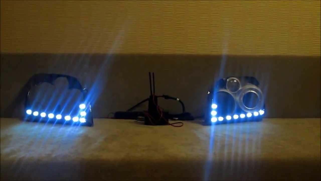 drl park lights for toyota avensis ii 2006 2008 youtube. Black Bedroom Furniture Sets. Home Design Ideas