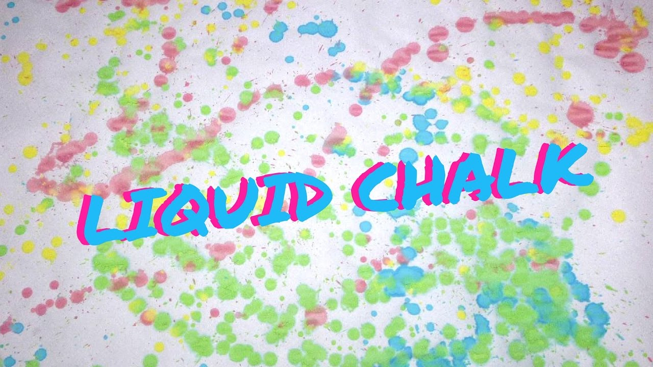 Liquid Chalk - DIY Sidewalk Chalk Paint
