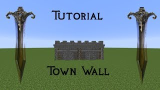 minecraft castle wall medieval easy town tutorial