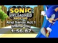 Sonic unleashed arid sands day act 1 speedrun 1 56 87 basic run mp3