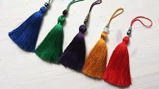 How to make Tassels DIY / multicolour silk thread Resham tassels tutorial / Tassels Jewellery